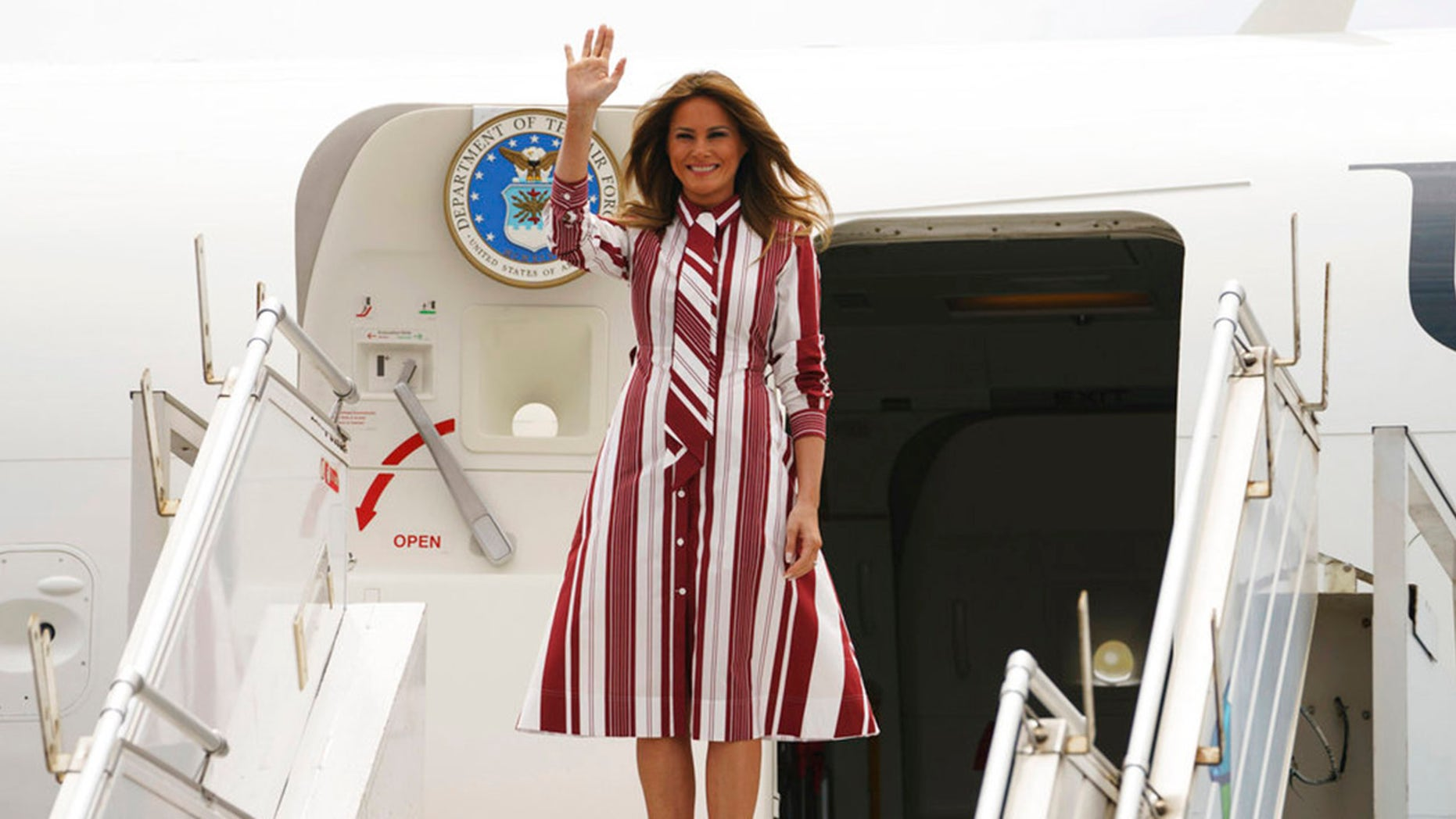Melania Trump arrives in Ghana on African trip
