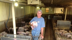 Bill Luckey, , estimates he has been working in the hog farming industry for  years – including the time he spent helping his dad on their family's hog farm as a small child.