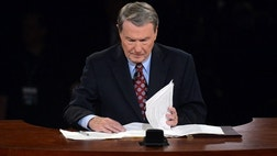 Debate moderator Jim Lehrer framed most of his debate questions Wednesday night to draw out and make clearer the policy differences between President Obama and Mitt Romney.