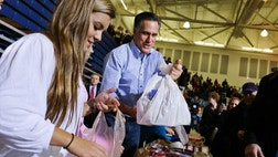 Even when Mitt Romney cancels campaigning and works to provide Hurricane Sandy relief, the media elites are still dropping bombs on him.