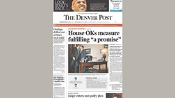 In reporting the Colorado legislature's vote to approve civil unions for same sex couples, the Denver Post included a picture of the speaker of the state house of representatives kissing his male partner.