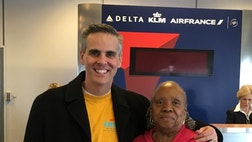 A chance meeting on a plane leads to deep conversation on family, faith and forgiveness.