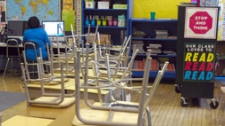 As the budget protests continue at Wisconsin's statehouse, at least one district spent time scrambling to staff its schools with volunteer babysitters in case teachers decide to cut class again on Tuesday.