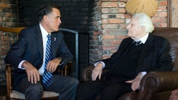 Mitt Romney received a spiritual boost Thursday, garnering an informal endorsement from the Reverends Billy and Franklin Graham.