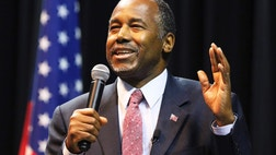 Republican presidential candidate Dr. Ben Carson isn't taking sides in Monday night's college football national championship, but he prayed with one of the coaches for a solid performance, his campaign said Sunday.