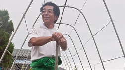 In one of the hardest hit coastal areas in Sendai, Japan, Hirofumi Ouchi is rebuilding his farm.