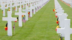The American Overseas Memorial Day Association (AOMDA) is a non-profit organization dedicated to honoring the memory of those who gave their lives in World Wars I and II, whose final resting places are in American military cemeteries or separate graves all over Europe and even Africa.