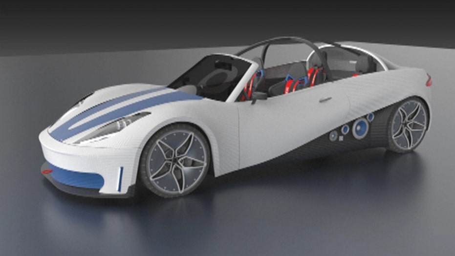 Make your own car with 3-D printer