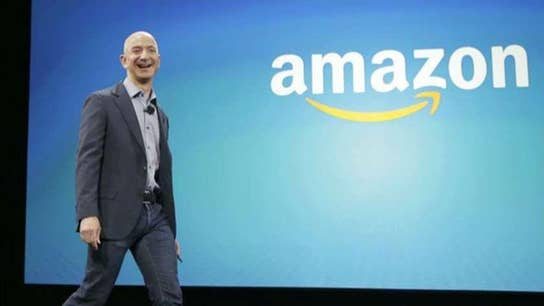 Jeff Bezos interrupted by protestor in Las Vegas