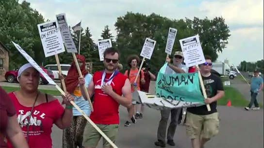 Amazon employees protesting on Prime Day in Minnesota