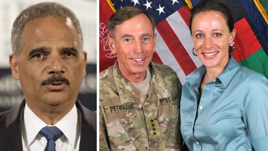 Holder says highest levels of DOJ will decide Petraeus' fate