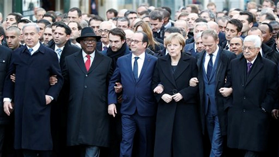 Word leaders join millions of marchers in Paris unity rally