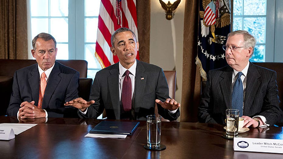 Obama holds bipartisan meeting with congressional leaders