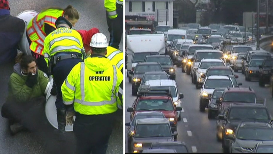Protesters force highway closures near Boston