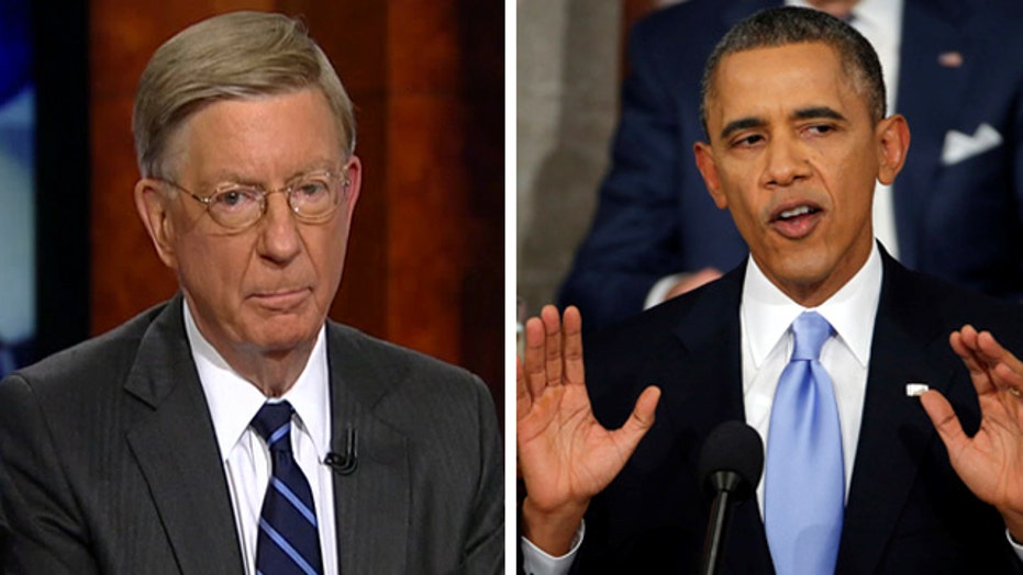 """Will: President Obama can expect """"big push back"""""""