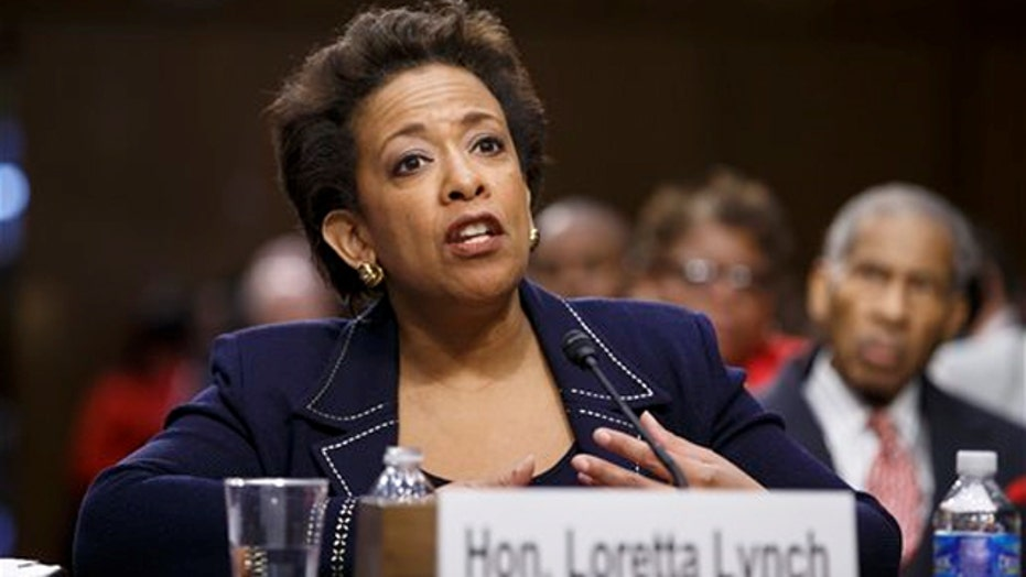 Loretta Lynch faces tough questioning by Senate committee
