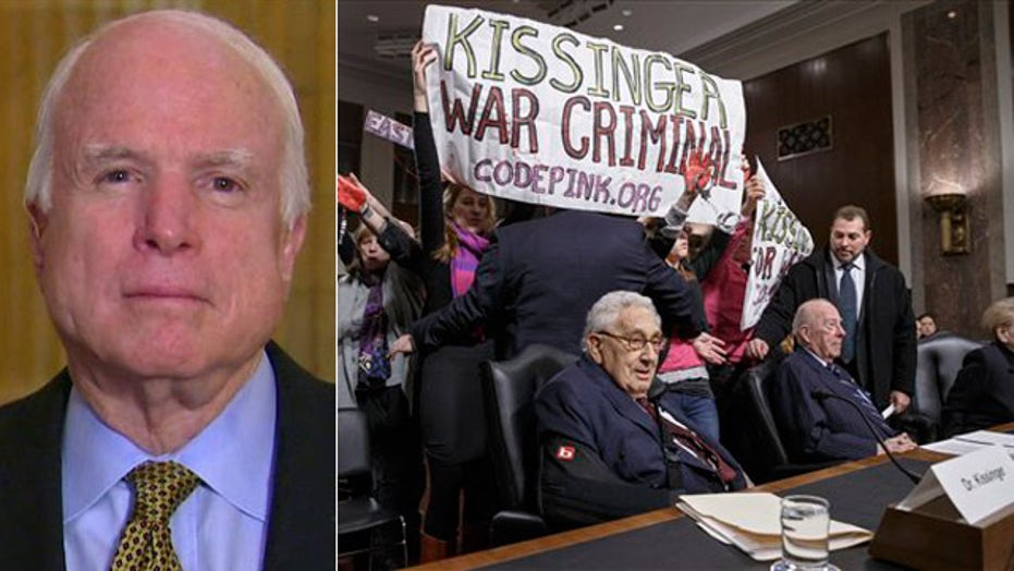 McCain slams protesters trying to 'arrest' Henry Kissinger