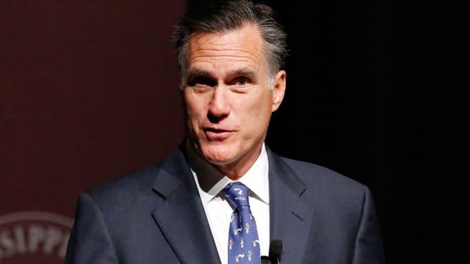 Mitt Romney slams Hillary Clinton in Mississippi speech