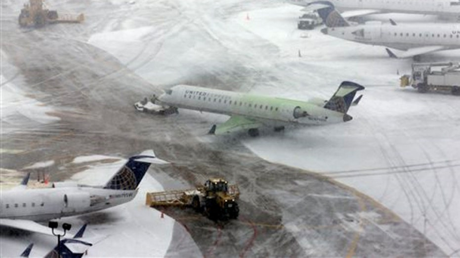 Flash freeze creates travel nightmare in Northeast