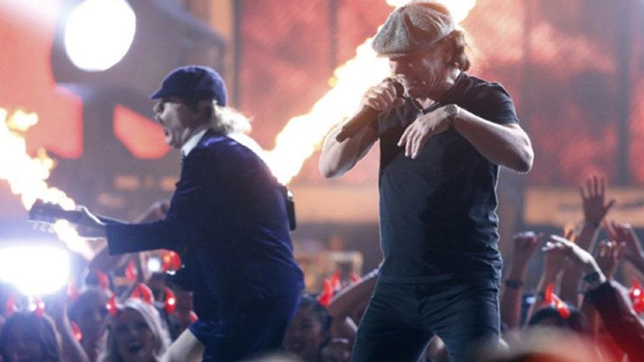 AC/DC rocks Grammys, with some help