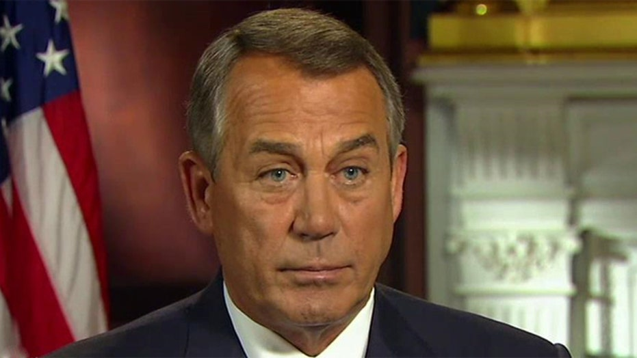 Rep. Boehner on impasse over Homeland Security funding