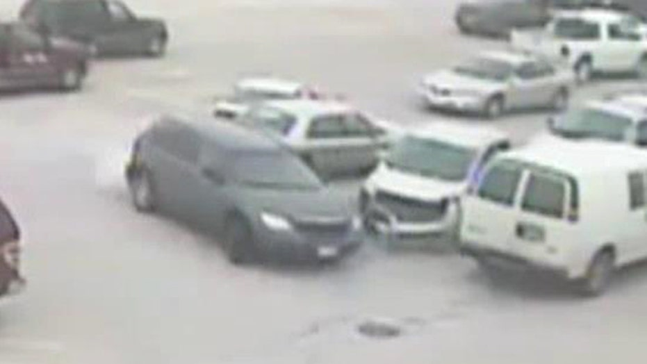 Elderly driver loses control, hits several parked cars