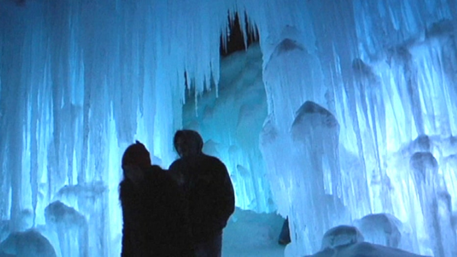 Giant ice castles tower across the US