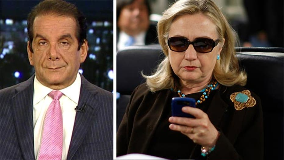 """Krauthammer: Clinton """"clearly constructing a system"""