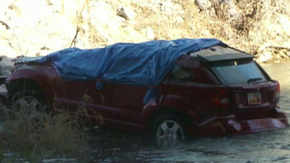 Baby rescued from overturned car that fell into Utah River