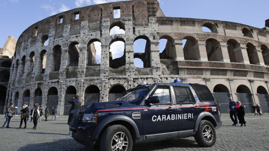 Americans caught carving initials into Roman Colosseum