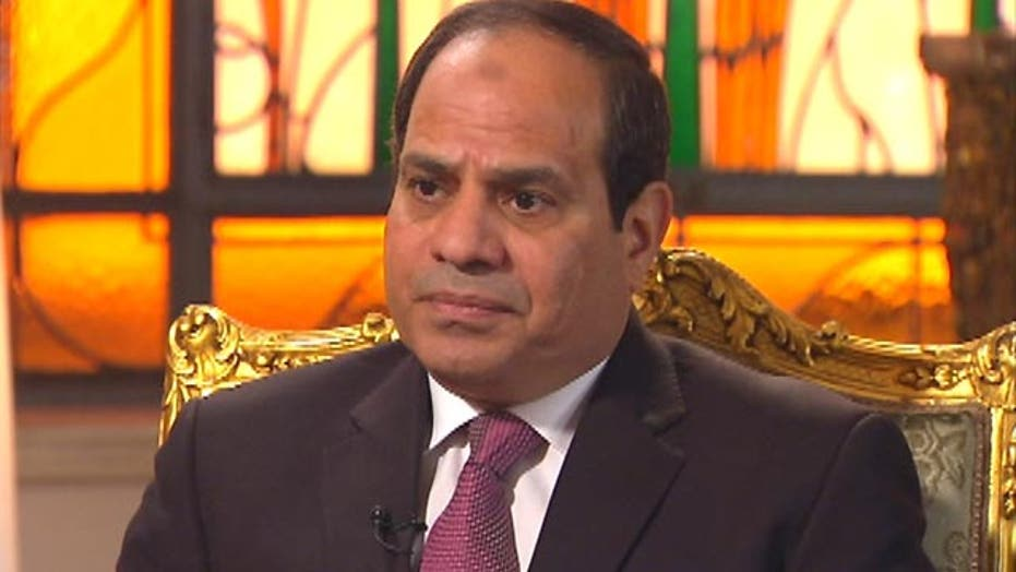 Egyptian president on fight against terror