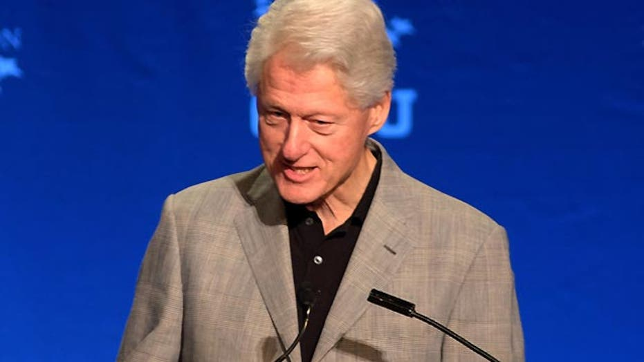 Bill Clinton defending foreign donations