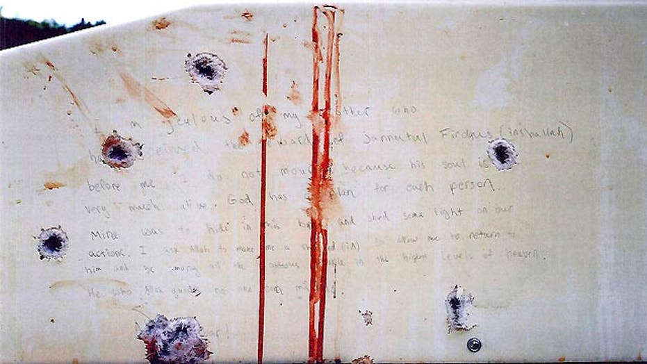 Jurors see Tsarnaev's blood-stained 'confession'