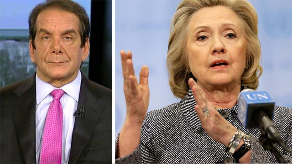 Krauthammer: Hillary 'acted to destroy the files'