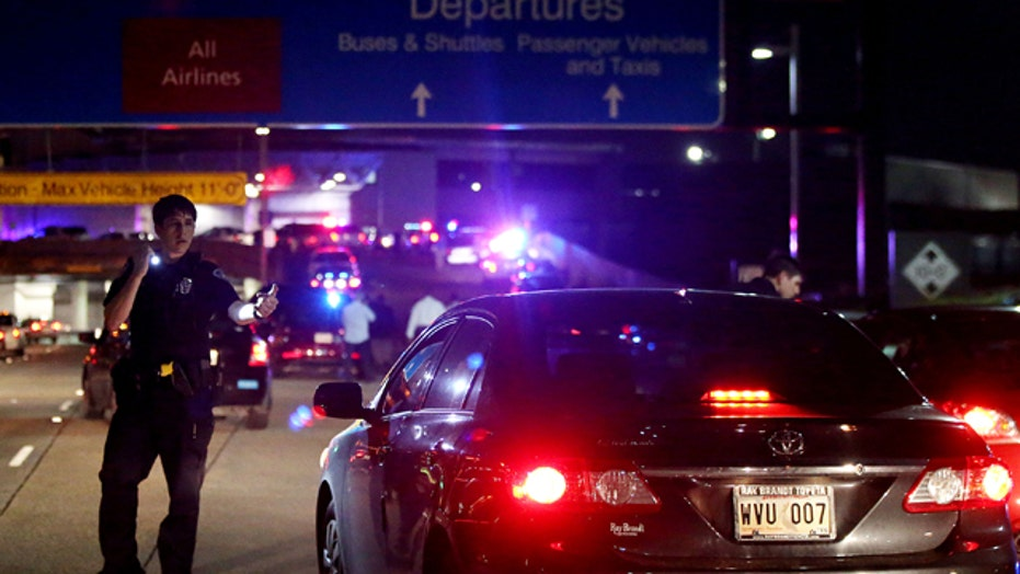 Eye witness describes chaos at New Orleans airport