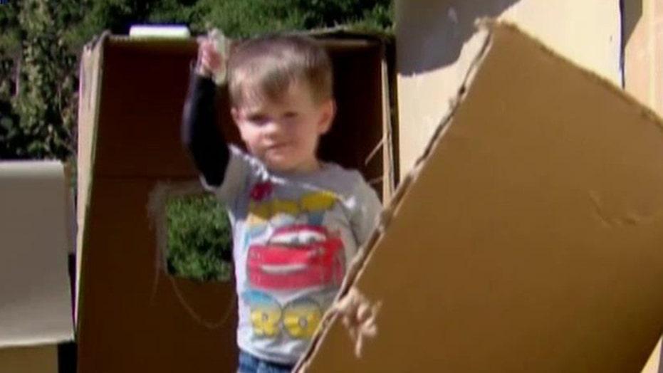 City cracks down on kids' cardboard castle