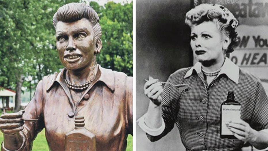 Lucille Ball statue terrifies locals in her hometown