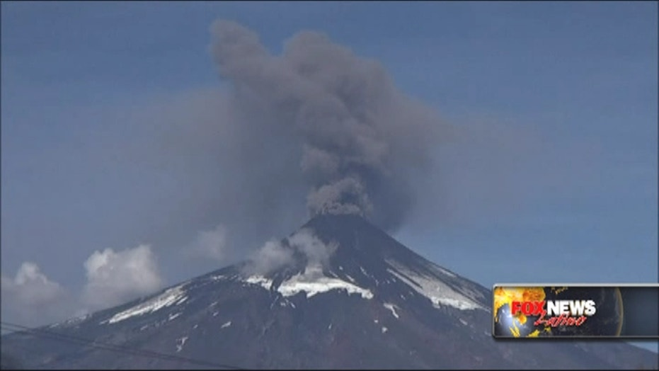 Volcano in Chile continues to spew smoke, ash