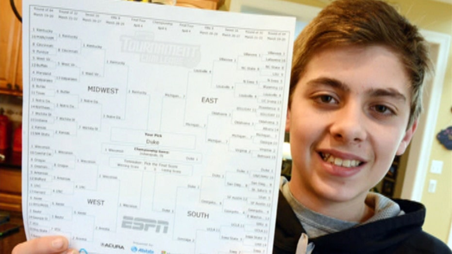12-year-old denied $20,000 bracket prize