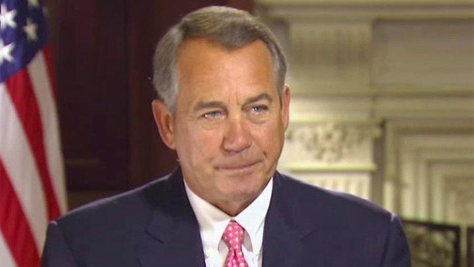 House Speaker John Boehner on 'Sunday Morning Futures'