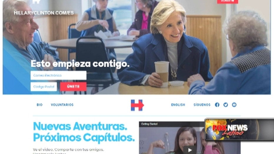 Clinton reaching out to Latinos with Spanish-language site