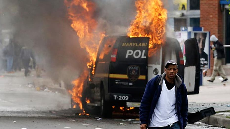 Reaction to rioting in Baltimore