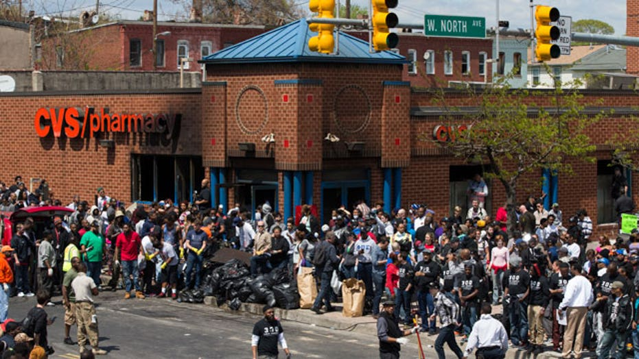 Baltimore remains calm after first night of mandatory curfew