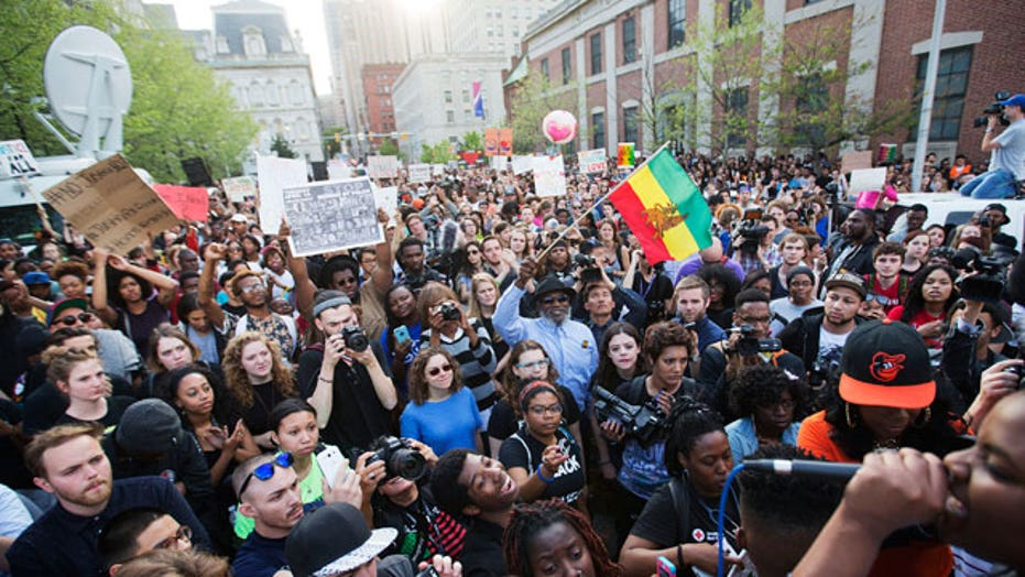Protests in support of Baltimore spread across the nation
