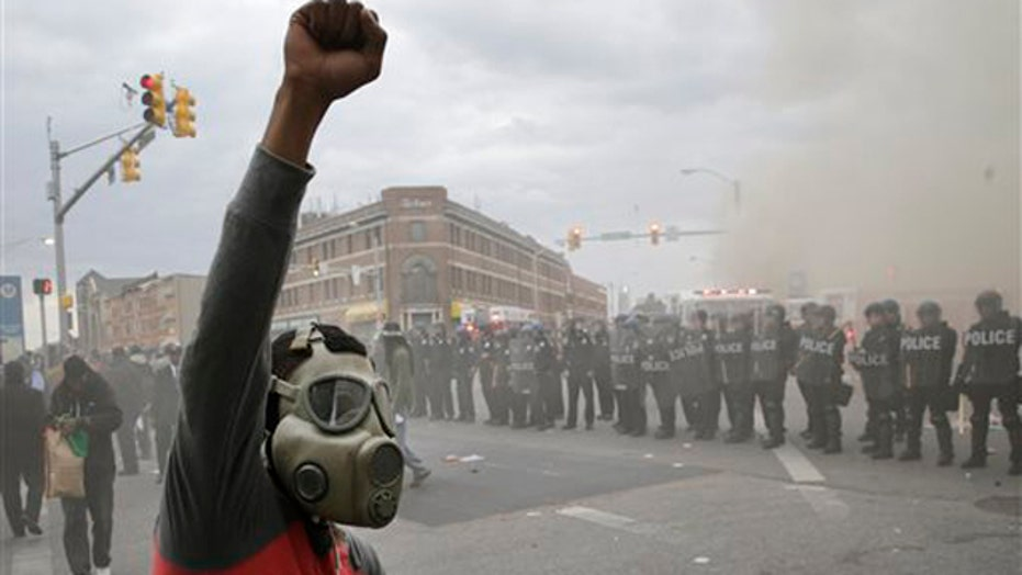 Media blanket Baltimore riots