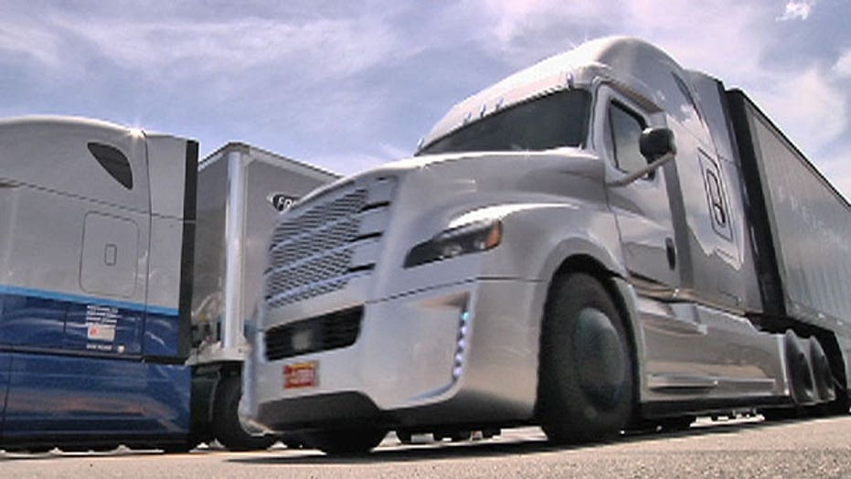 Self driving truck hits the road