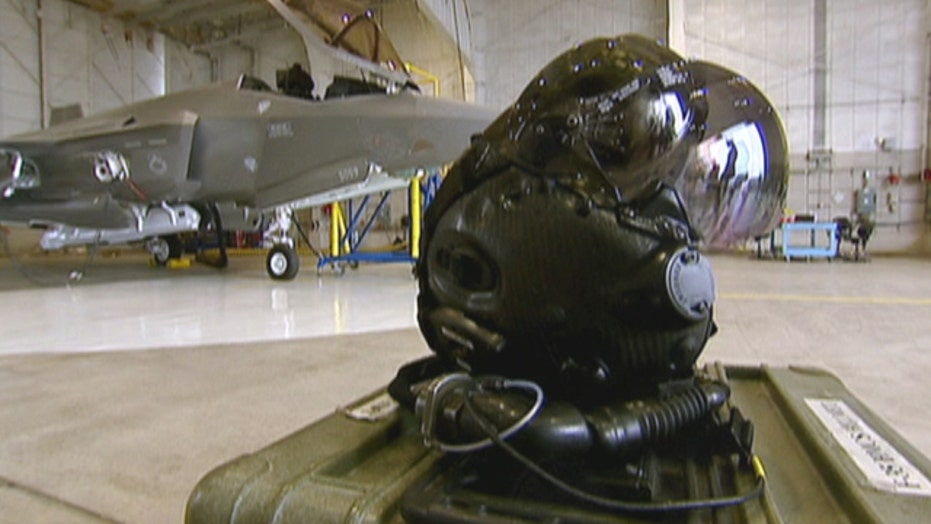 A look at the futuristic new F-35 fighter pilot helmet