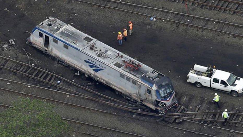 Did projectile hit Amtrak train before derailment?