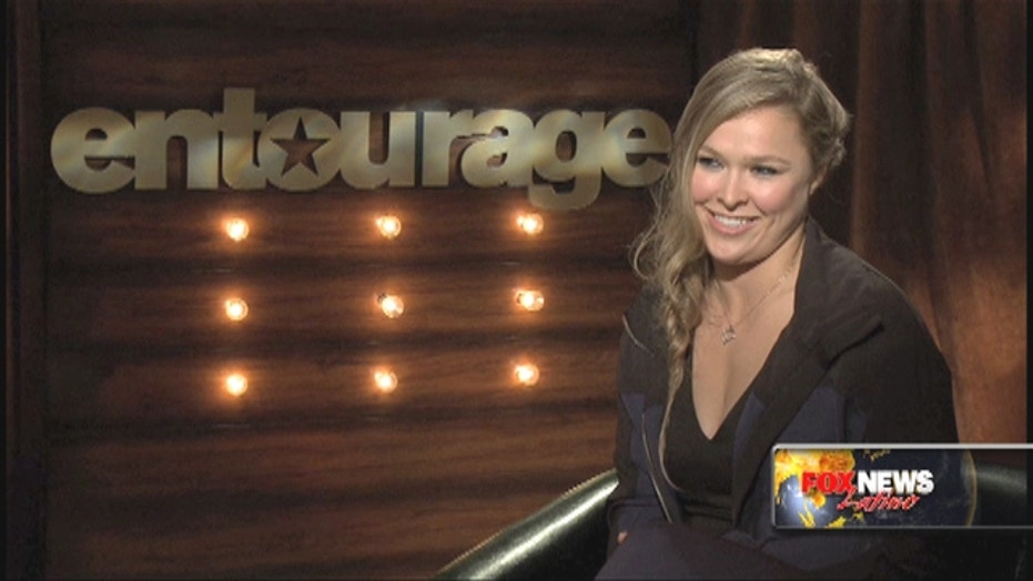 Ronda Rousey shows her girly side in 'Entourage'
