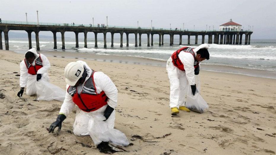 Coast Guard defends response to California oil spill